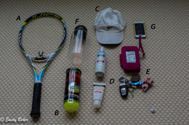 My Tennis Bag Contents